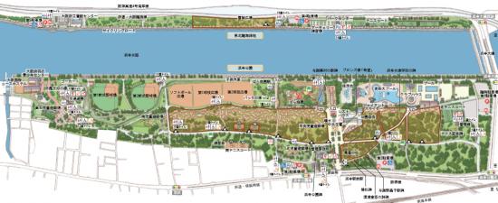 浜寺公園園内図