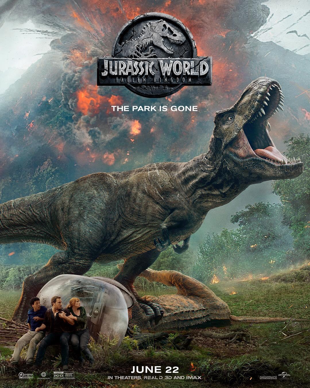 ジュラシックワールド炎の王国のポスター