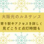 大阪光ルネサンス 最寄り駅 アクセス