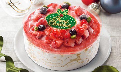 苺のクリスマスデコレーション アイスケーキ 5号