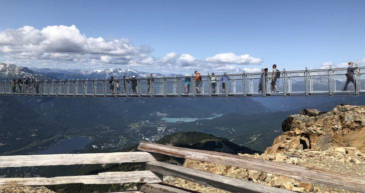 ウィスラー山頂 つり橋