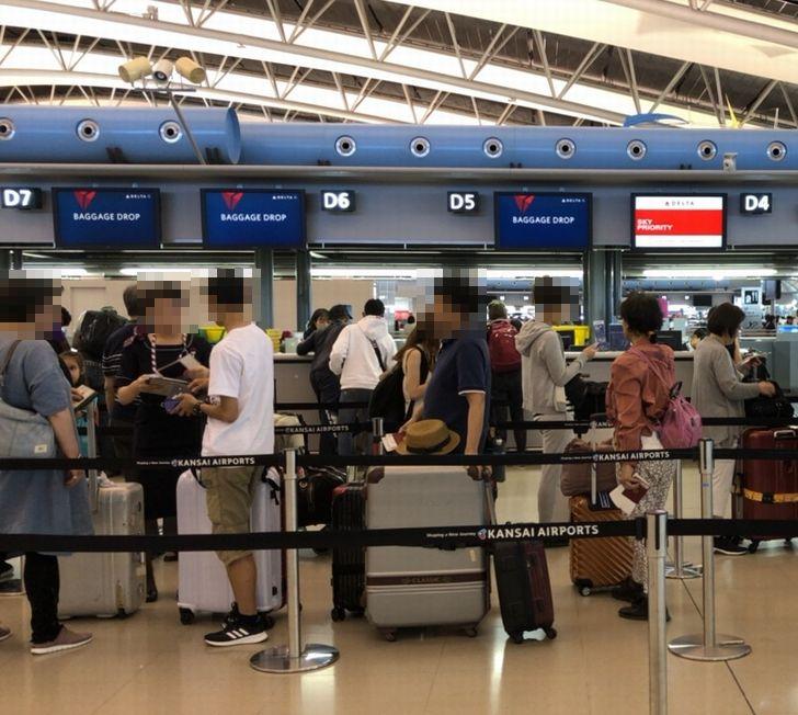 関西国際空港 デルタ航空