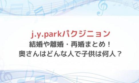 j.y.park 結婚 嫁