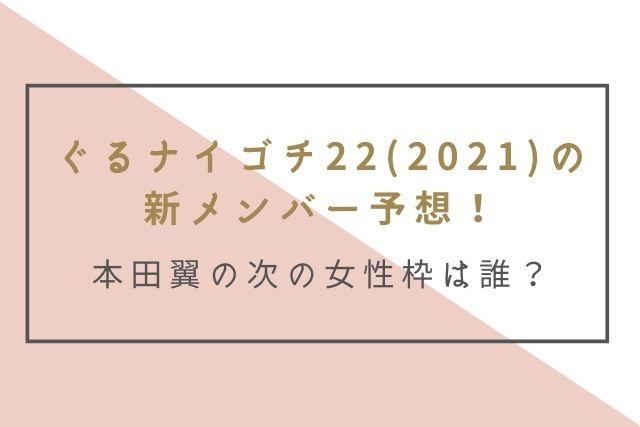 ぐるナイゴチ22(2021) 新メンバー 女性