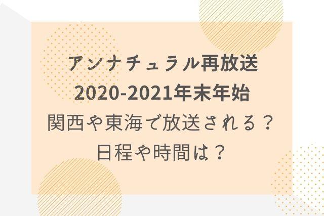 アンナチュラル再放送 関西 大阪 東海
