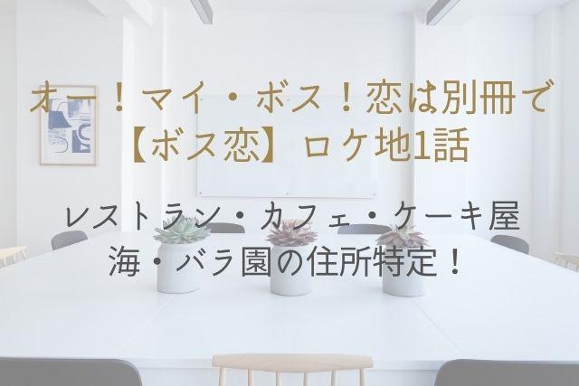 ボス恋 1話 ロケ地